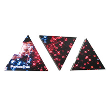 Hermosa pantalla LED triangular